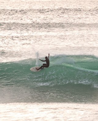 Surfer at Beach at Taghazout