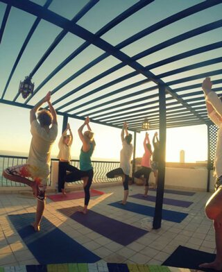 Yoga lesson at Taghazout